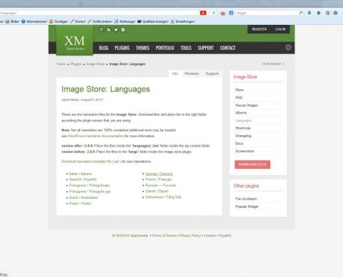 AgenturWP Übersetzung WP-Plugin ImageStore
