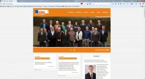 AgenturWP Webprojekt CDU Einrich
