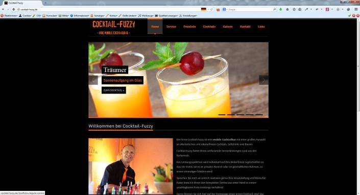 AgenturWP WordPress Web-Projekt Cocktail Fuzzy